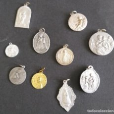 Antigüedades: MEDALLAS 10 MEDALLAS, SANTA QUITERIA VIRGEN Y MARTIR VIRGEN DE LA CONSOLACIÓN, SAN VICENTE DE PAUL,. Lote 199822643