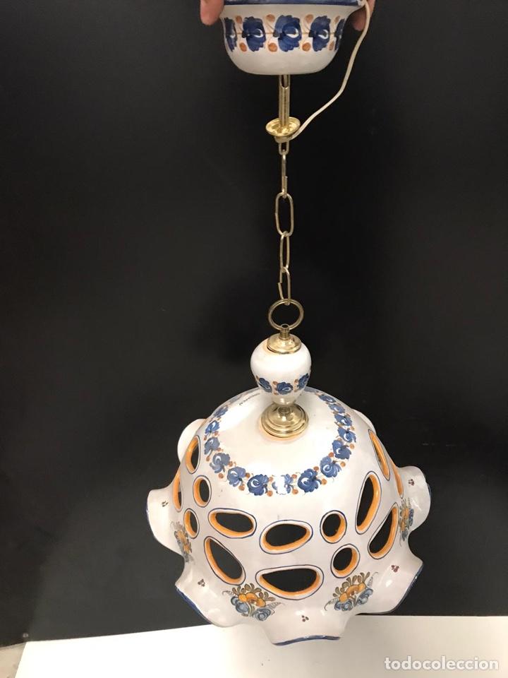 LAMPARA DE TALAVERA (Antigüedades - Porcelanas y Cerámicas - Talavera)