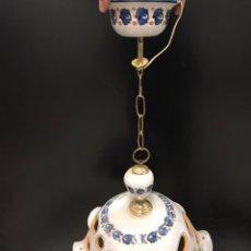 Antigüedades: LAMPARA DE TALAVERA. Lote 199832483