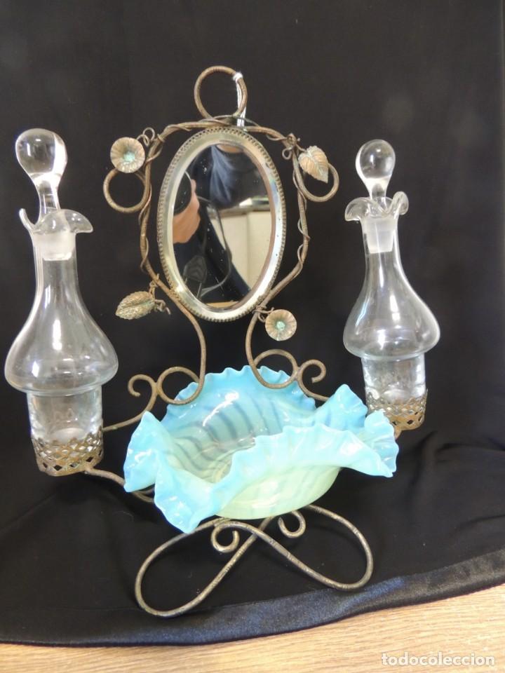Antigüedades: perfumero anillero 1900 - Foto 6 - 199843565