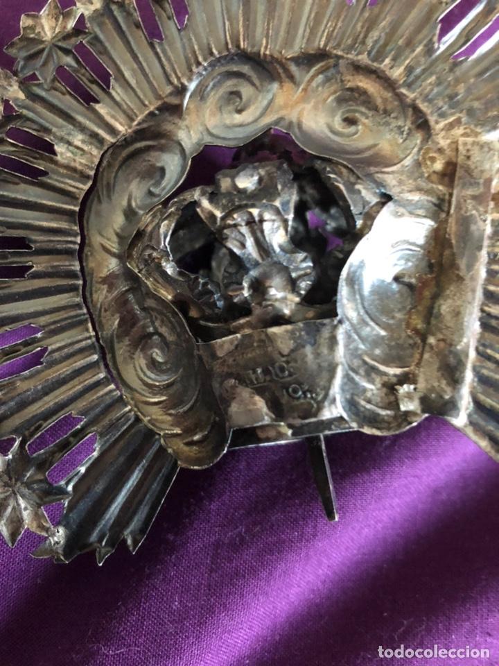 Antigüedades: CORONA DE PLATA VIRGEN. S.XIX. - Foto 11 - 199850795