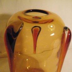 Antigüedades: JARRON DE CRISTAL DE BOHEMIA-. Lote 199854807