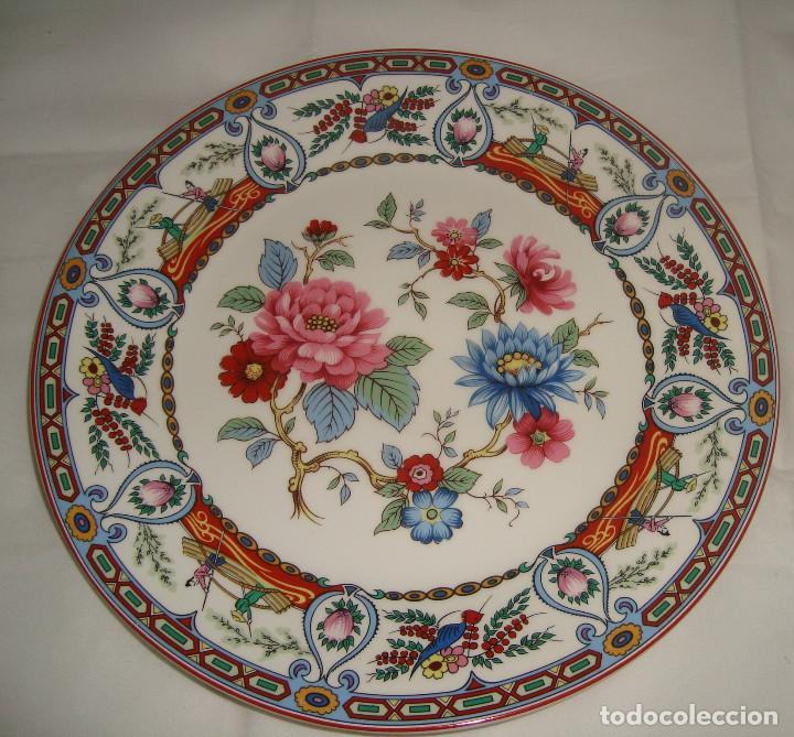 PLATO DE PORCELANA CHINA, 25.5CM. (Antigüedades - Porcelanas y Cerámicas - China)