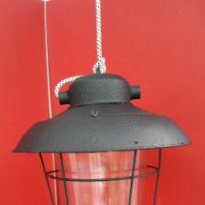 Antigüedades: LAMPARA , FOCO INDUSTRIAL AÑOS 40/50. Lote 199875600