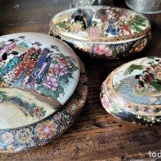 Antigüedades: CAJAS SATSUMA CHINAS. Lote 199882091