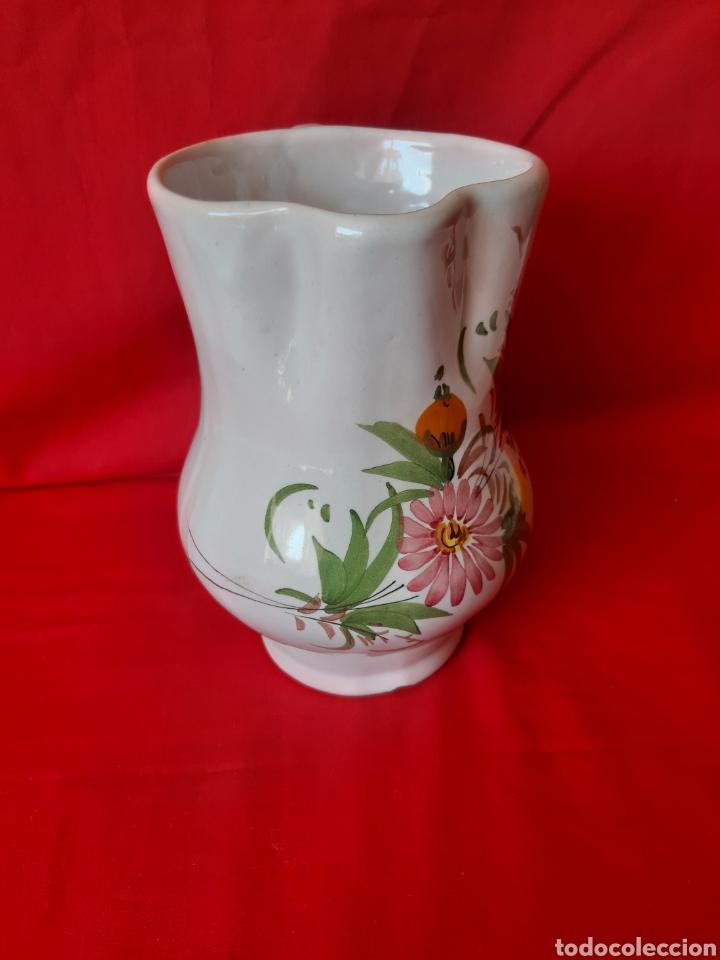 Antigüedades: Jarra en cerámica de la marca Lario de Lorca Murcia altura 19cm - Foto 2 - 199917348