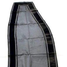 Antigüedades: MANTILLA DE CASCO DE RASO DE SEDA Y TERCIOPELO - S. XIX - PIEZA RARA. Lote 199941488