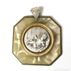 Antigüedades: CUNERO DE METAL Y CELUOIDE IMITANDO A MADREPERLA.. Lote 199950106