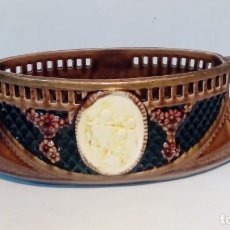 Antigüedades: JARDINERA DE MESA MODERNISTA-. Lote 199952276