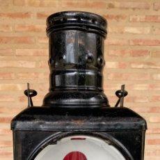 Antigüedades: ANTIGUO FAROL TREN RENFE . MUY COMPLETO Y BIEN CONSERVADO .. Lote 199956468
