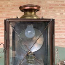 Antigüedades: ANTIGUA MARQUESA DE FURGON , PARA COLGAR ,TREN RENFE .. Lote 199959281