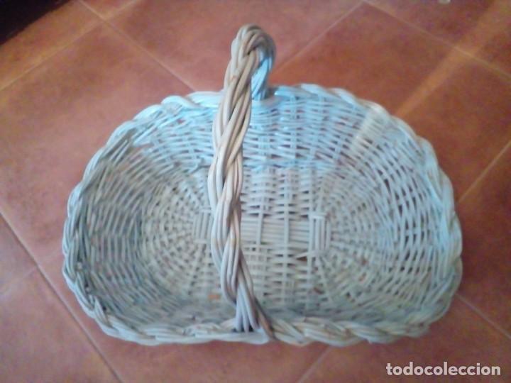 CESTA DE MIMBRE (Antigüedades - Técnicas - Rústicas - Agricultura)