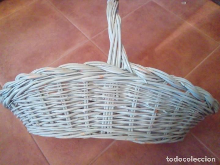 Antigüedades: CESTA DE MIMBRE - Foto 2 - 284022693