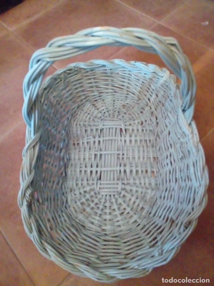 Antigüedades: CESTA DE MIMBRE - Foto 3 - 284022693