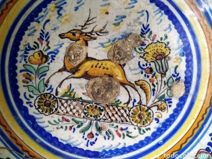 Antigüedades: Rara fuente de Triana siglo XVIII. Medidas 34x14cm. - Foto 3 - 199989832