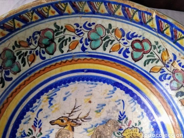 Antigüedades: Rara fuente de Triana siglo XVIII. Medidas 34x14cm. - Foto 4 - 199989832