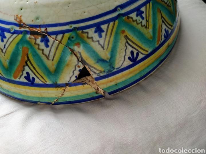 Antigüedades: Rara fuente de Triana siglo XVIII. Medidas 34x14cm. - Foto 6 - 199989832