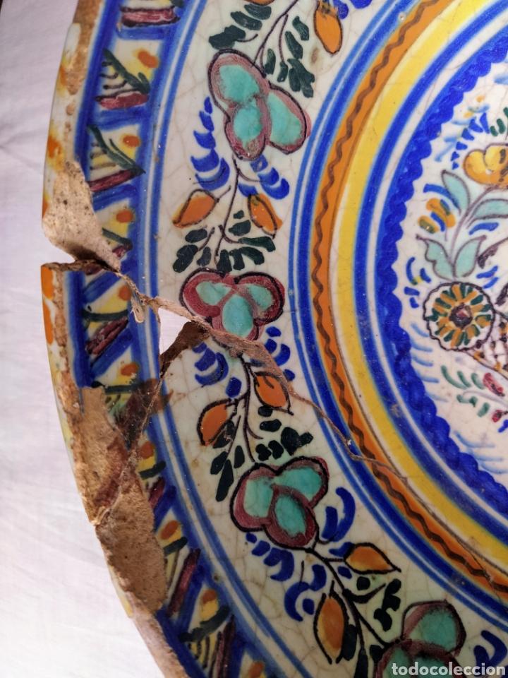 Antigüedades: Rara fuente de Triana siglo XVIII. Medidas 34x14cm. - Foto 12 - 199989832