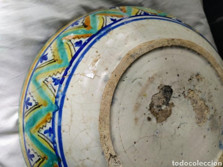 Antigüedades: Rara fuente de Triana siglo XVIII. Medidas 34x14cm. - Foto 13 - 199989832