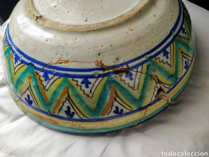 Antigüedades: Rara fuente de Triana siglo XVIII. Medidas 34x14cm. - Foto 14 - 199989832