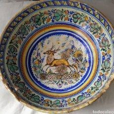 Antigüedades: RARA FUENTE DE TRIANA SIGLO XVIII. MEDIDAS 34X14CM.. Lote 199989832