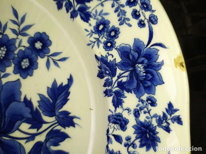 Antigüedades: LOTE 13 PLATOS AZULES SAN CLAUDIO PRINCIPADO BLUEBOUQUET MADE IN SPAIN ANTIGUOS VINTAGE RESTAURAR - Foto 2 - 200050173