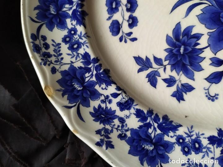 Antigüedades: LOTE 13 PLATOS AZULES SAN CLAUDIO PRINCIPADO BLUEBOUQUET MADE IN SPAIN ANTIGUOS VINTAGE RESTAURAR - Foto 3 - 200050173
