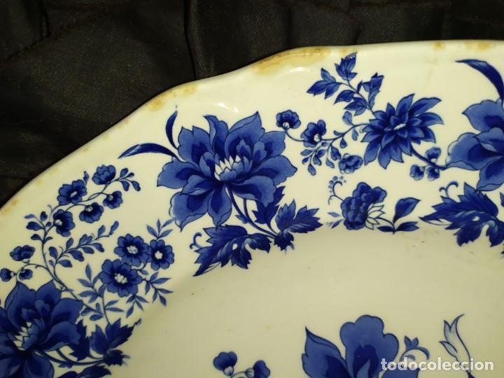 Antigüedades: LOTE 13 PLATOS AZULES SAN CLAUDIO PRINCIPADO BLUEBOUQUET MADE IN SPAIN ANTIGUOS VINTAGE RESTAURAR - Foto 5 - 200050173