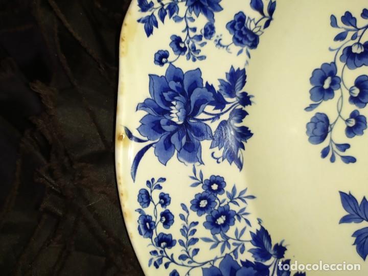 Antigüedades: LOTE 13 PLATOS AZULES SAN CLAUDIO PRINCIPADO BLUEBOUQUET MADE IN SPAIN ANTIGUOS VINTAGE RESTAURAR - Foto 7 - 200050173