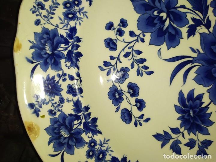 Antigüedades: LOTE 13 PLATOS AZULES SAN CLAUDIO PRINCIPADO BLUEBOUQUET MADE IN SPAIN ANTIGUOS VINTAGE RESTAURAR - Foto 8 - 200050173