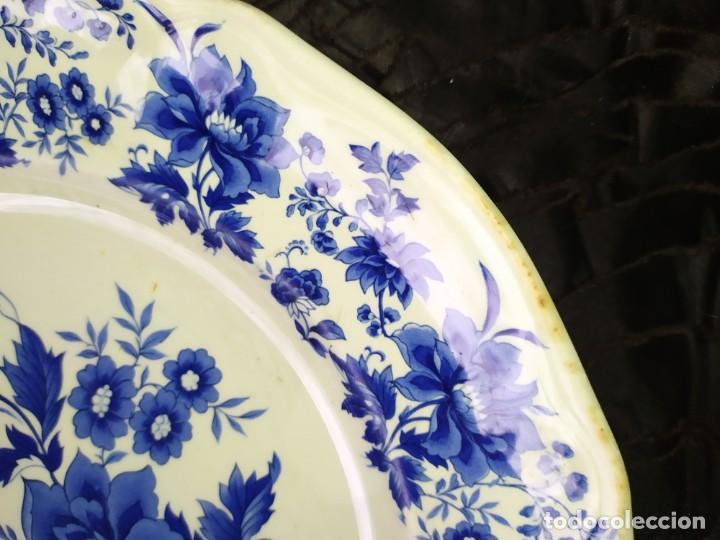 Antigüedades: LOTE 13 PLATOS AZULES SAN CLAUDIO PRINCIPADO BLUEBOUQUET MADE IN SPAIN ANTIGUOS VINTAGE RESTAURAR - Foto 11 - 200050173