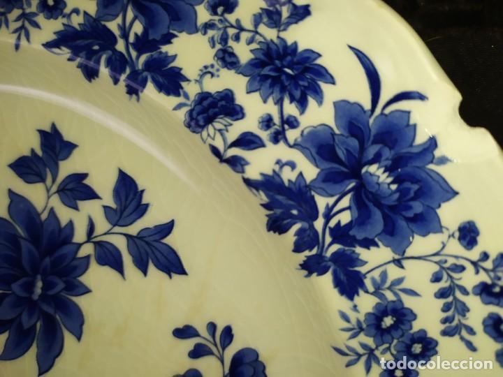 Antigüedades: LOTE 13 PLATOS AZULES SAN CLAUDIO PRINCIPADO BLUEBOUQUET MADE IN SPAIN ANTIGUOS VINTAGE RESTAURAR - Foto 14 - 200050173