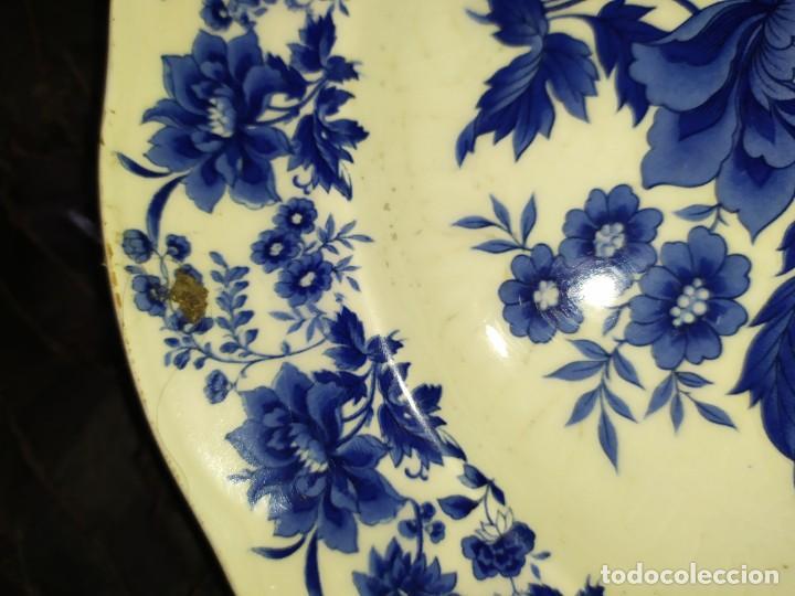 Antigüedades: LOTE 13 PLATOS AZULES SAN CLAUDIO PRINCIPADO BLUEBOUQUET MADE IN SPAIN ANTIGUOS VINTAGE RESTAURAR - Foto 16 - 200050173