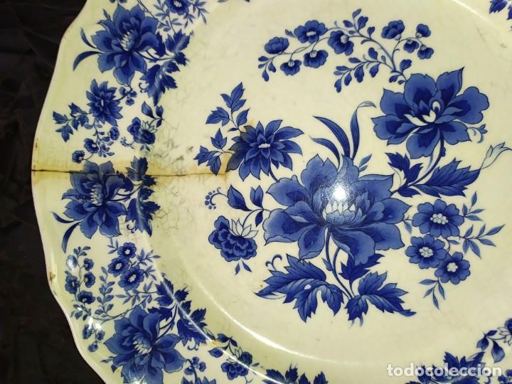 Antigüedades: LOTE 13 PLATOS AZULES SAN CLAUDIO PRINCIPADO BLUEBOUQUET MADE IN SPAIN ANTIGUOS VINTAGE RESTAURAR - Foto 21 - 200050173