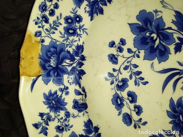 Antigüedades: LOTE 13 PLATOS AZULES SAN CLAUDIO PRINCIPADO BLUEBOUQUET MADE IN SPAIN ANTIGUOS VINTAGE RESTAURAR - Foto 25 - 200050173