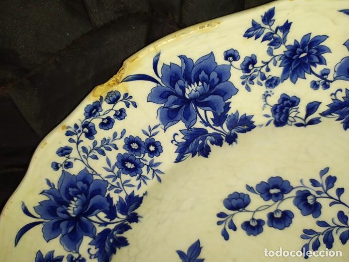 Antigüedades: LOTE 13 PLATOS AZULES SAN CLAUDIO PRINCIPADO BLUEBOUQUET MADE IN SPAIN ANTIGUOS VINTAGE RESTAURAR - Foto 27 - 200050173