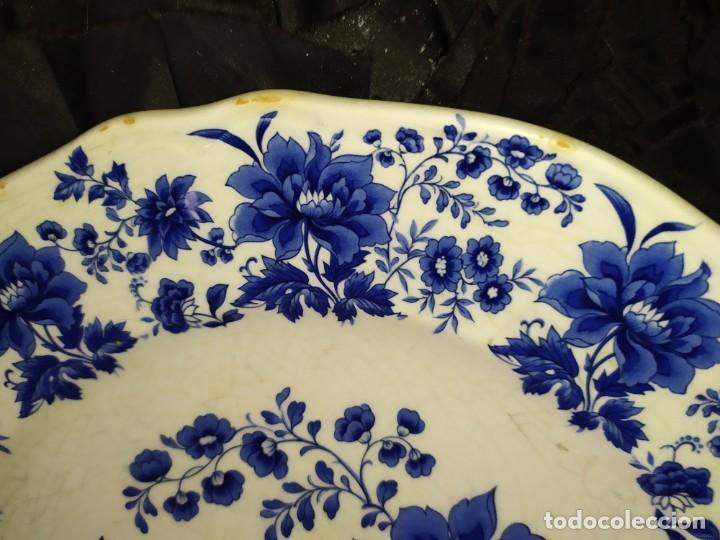 Antigüedades: LOTE 13 PLATOS AZULES SAN CLAUDIO PRINCIPADO BLUEBOUQUET MADE IN SPAIN ANTIGUOS VINTAGE RESTAURAR - Foto 28 - 200050173