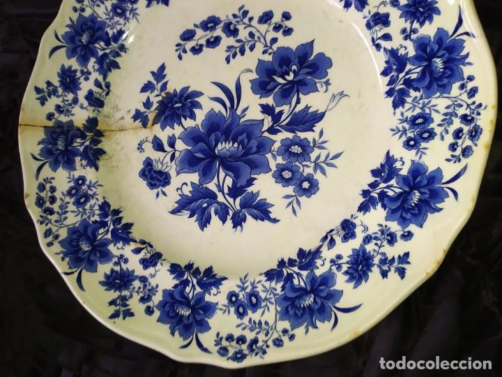 Antigüedades: LOTE 13 PLATOS AZULES SAN CLAUDIO PRINCIPADO BLUEBOUQUET MADE IN SPAIN ANTIGUOS VINTAGE RESTAURAR - Foto 29 - 200050173