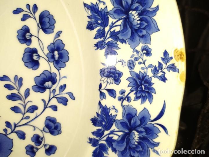 Antigüedades: LOTE 13 PLATOS AZULES SAN CLAUDIO PRINCIPADO BLUEBOUQUET MADE IN SPAIN ANTIGUOS VINTAGE RESTAURAR - Foto 32 - 200050173