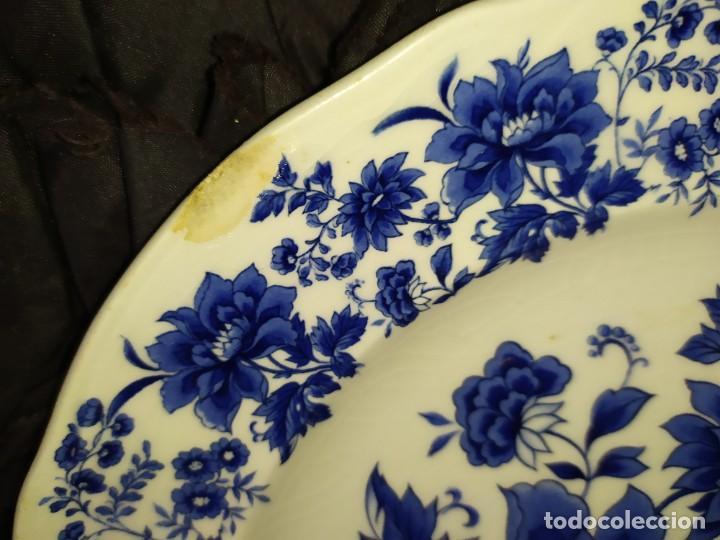Antigüedades: LOTE 13 PLATOS AZULES SAN CLAUDIO PRINCIPADO BLUEBOUQUET MADE IN SPAIN ANTIGUOS VINTAGE RESTAURAR - Foto 33 - 200050173