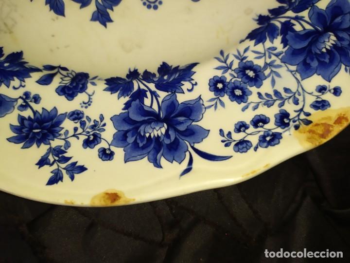 Antigüedades: LOTE 13 PLATOS AZULES SAN CLAUDIO PRINCIPADO BLUEBOUQUET MADE IN SPAIN ANTIGUOS VINTAGE RESTAURAR - Foto 35 - 200050173