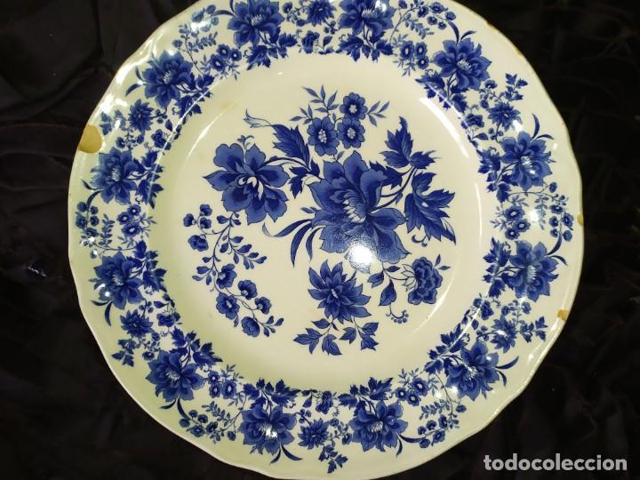 Antigüedades: LOTE 13 PLATOS AZULES SAN CLAUDIO PRINCIPADO BLUEBOUQUET MADE IN SPAIN ANTIGUOS VINTAGE RESTAURAR - Foto 36 - 200050173