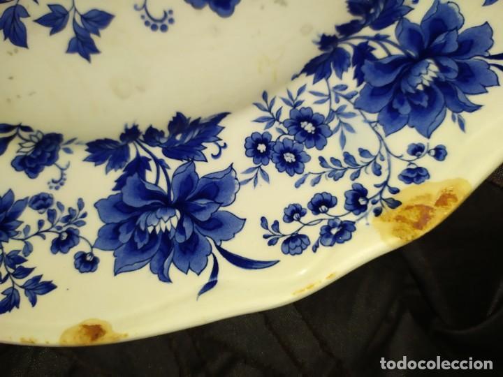 Antigüedades: LOTE 13 PLATOS AZULES SAN CLAUDIO PRINCIPADO BLUEBOUQUET MADE IN SPAIN ANTIGUOS VINTAGE RESTAURAR - Foto 37 - 200050173