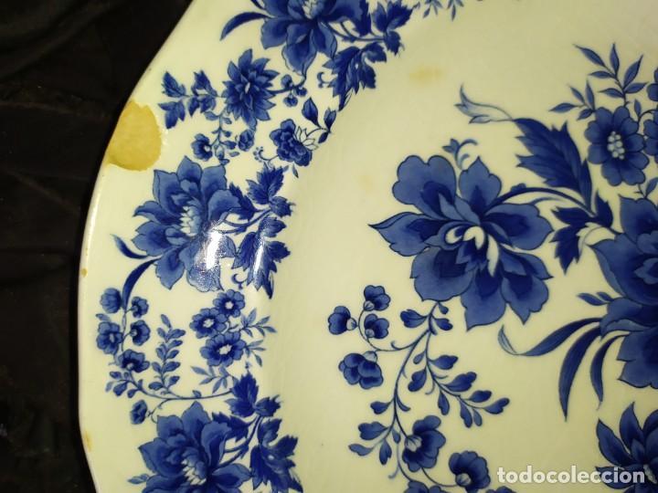 Antigüedades: LOTE 13 PLATOS AZULES SAN CLAUDIO PRINCIPADO BLUEBOUQUET MADE IN SPAIN ANTIGUOS VINTAGE RESTAURAR - Foto 38 - 200050173