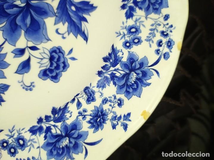 Antigüedades: LOTE 13 PLATOS AZULES SAN CLAUDIO PRINCIPADO BLUEBOUQUET MADE IN SPAIN ANTIGUOS VINTAGE RESTAURAR - Foto 39 - 200050173