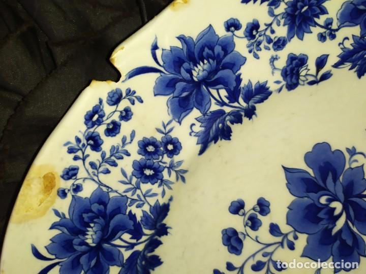 Antigüedades: LOTE 13 PLATOS AZULES SAN CLAUDIO PRINCIPADO BLUEBOUQUET MADE IN SPAIN ANTIGUOS VINTAGE RESTAURAR - Foto 43 - 200050173