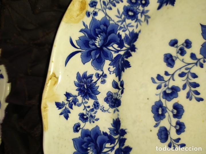 Antigüedades: LOTE 13 PLATOS AZULES SAN CLAUDIO PRINCIPADO BLUEBOUQUET MADE IN SPAIN ANTIGUOS VINTAGE RESTAURAR - Foto 44 - 200050173