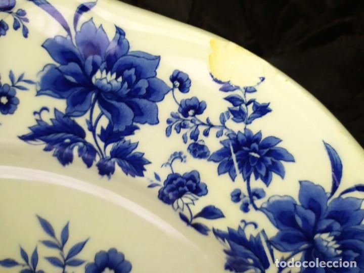 Antigüedades: LOTE 13 PLATOS AZULES SAN CLAUDIO PRINCIPADO BLUEBOUQUET MADE IN SPAIN ANTIGUOS VINTAGE RESTAURAR - Foto 45 - 200050173