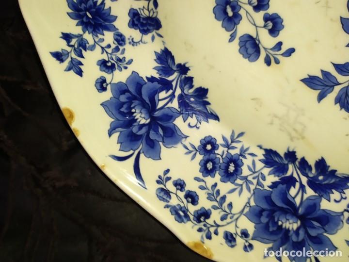 Antigüedades: LOTE 13 PLATOS AZULES SAN CLAUDIO PRINCIPADO BLUEBOUQUET MADE IN SPAIN ANTIGUOS VINTAGE RESTAURAR - Foto 46 - 200050173