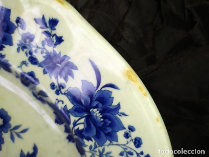 Antigüedades: LOTE 13 PLATOS AZULES SAN CLAUDIO PRINCIPADO BLUEBOUQUET MADE IN SPAIN ANTIGUOS VINTAGE RESTAURAR - Foto 47 - 200050173